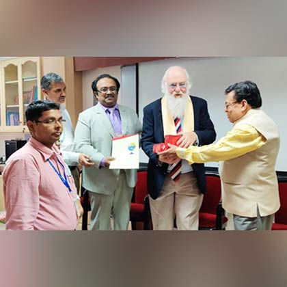 Visit by Prof. (Dr.) John A M Ramshaw to Netaji Subhas Engineering College