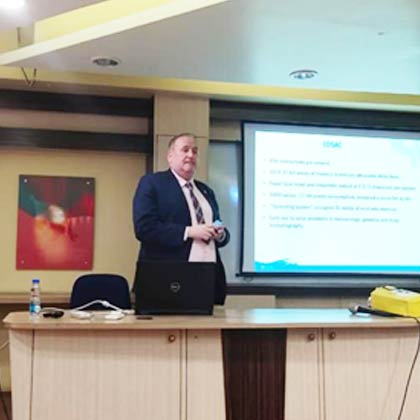 Visit by Prof. Mike Hinchey to Techno India New Town campus